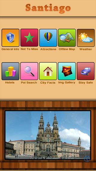 Santiago De Compostela Offline Map Travel Guide