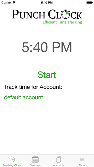 PunchClock - efficient time tracking