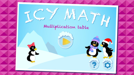Icy Math - Multiplication table for kids multiplication and division skills good brain trainer game