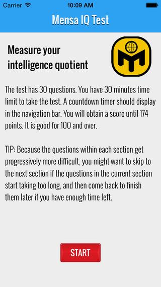 Mensa IQ Test - Measure Your Brain