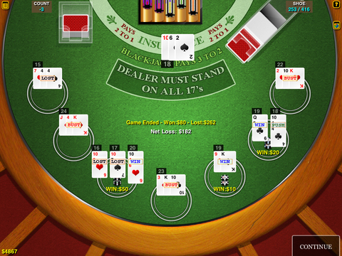 BlackJack Multi-Hand HD FREE for iPad iPad Screenshot 1