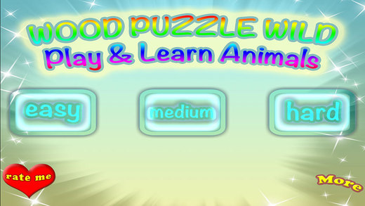 Wood Puzzle Wild Animals Match Learning Game