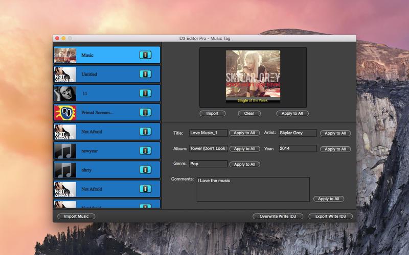 ID3 Editor Pro - 音乐 ID3 标签编辑器[OS X]丨反斗限免