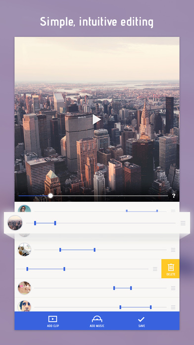 Screenshots of Combine Videos and Stitch Clips Together with Video Slideshow for iPhone