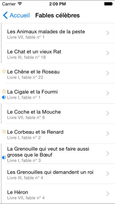 Fables, Jean de La Fontaine iPhone Screenshot 4