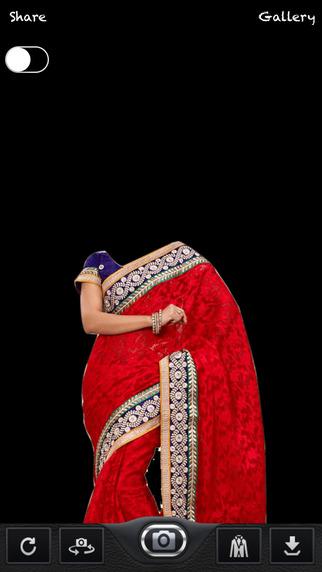 Woman Saree Photo Montage - Photo Editor