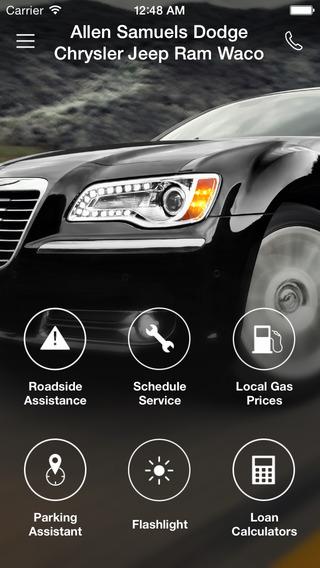 Allen Samuels Dodge Chrysler Jeep Ram Waco DealerApp