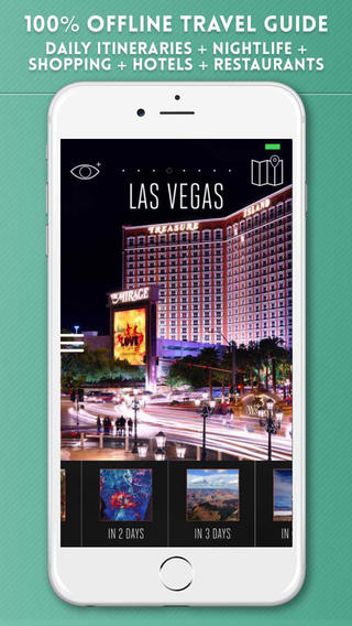 Las Vegas Travel Guide with Offline City Street Maps