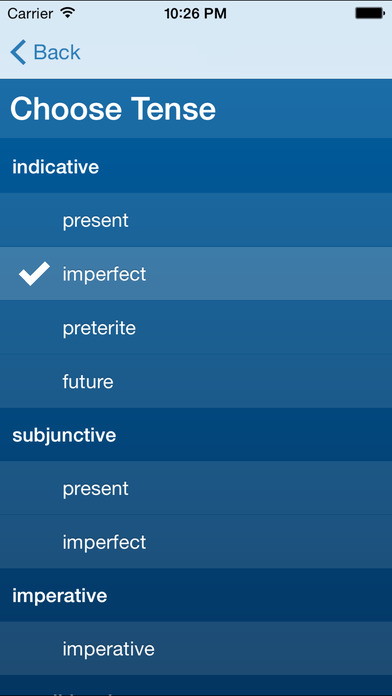 French Verb Conjugation Trainer by Très Bien French iPhone Screenshot 1
