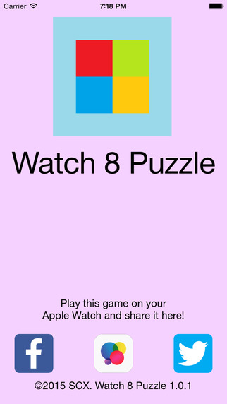 Watch 8 Puzzle: Jigsaw and sliding puzzle game fun and challenging just for Apple Watch