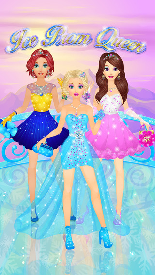 Ice Queen Prom Salon: Frozen Princess Spa Makeup Dress Up Magic Makeover - Girls Games