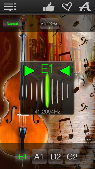 Easy Double Bass Tuner