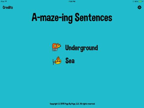 A-maze-ing Sentences