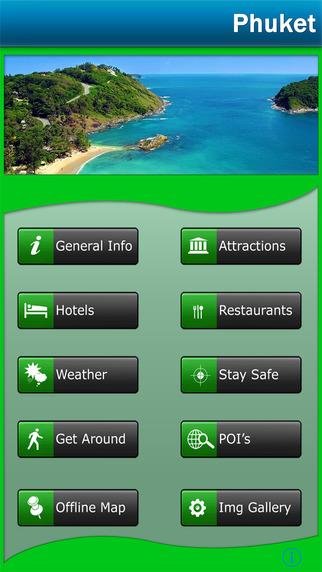 Phuket Island Offline Map Travel Guide