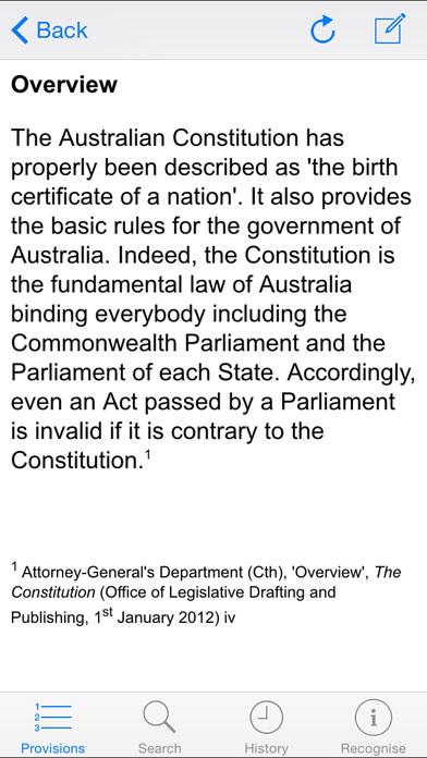 Constitution of Australia iPhone Screenshot 4
