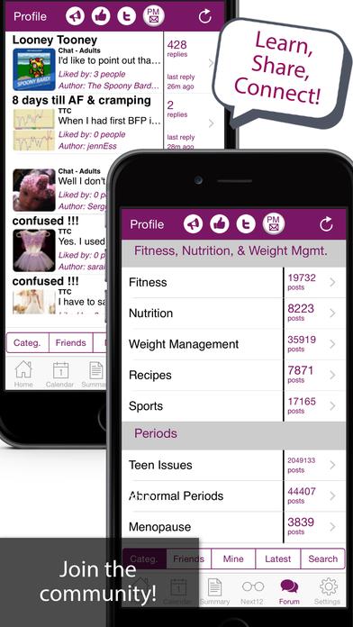 iPeriod Ultimate (Period / Menstrual Calendar) iPhone Screenshot 5