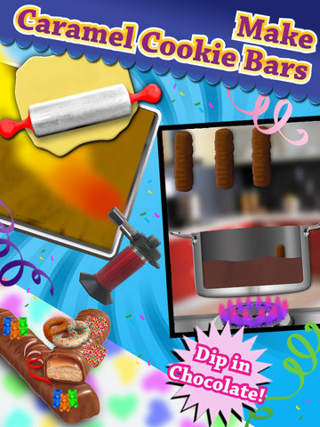 Chocolate candy bar maker game make decorate eat for Food bar game