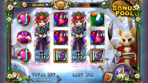alice in wonderland slots on facebook