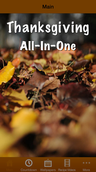 Thanksgiving All-In-One Countdown Wallpapers Recipes