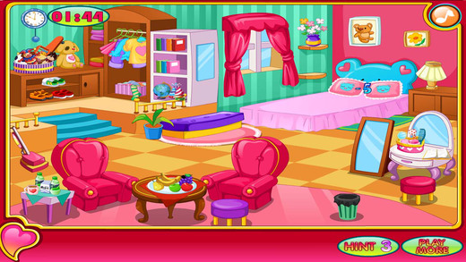 Little Girl Clean Room