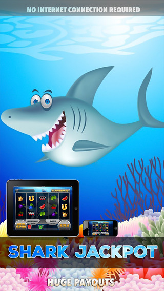 Slot Shark Hit it Rich Awesome Jackpots - FREE Slot Game Rush of Jackpots