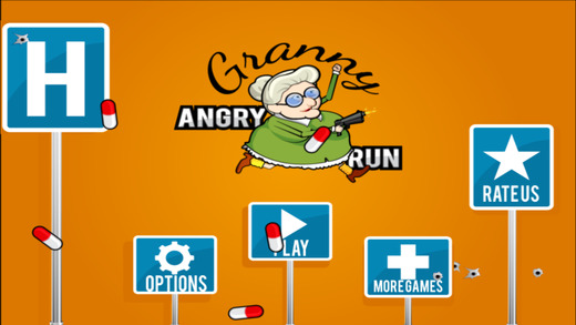 Angry Grandma Run Games:Crazy - The most fun games for the bad grandma in you