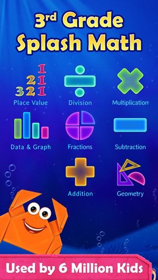 3rd Grade Math: Splash Math Worksheets Game for 16