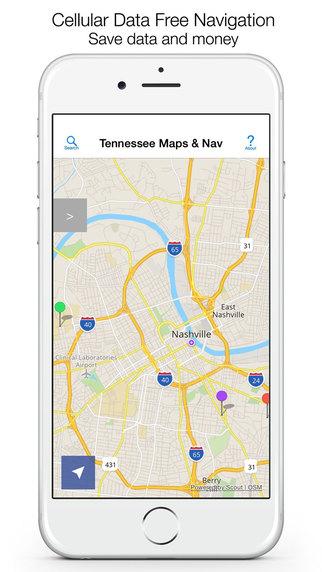 Tennessee Offline Maps Offline Navigation