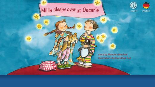 "Pixie-Book ""Millie Sleeps Over at Oscar's"" for iPhone"