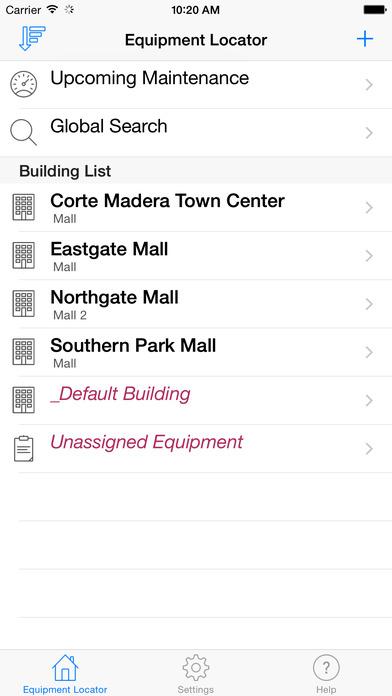HVAC Equipment Locator iPhone Screenshot 1
