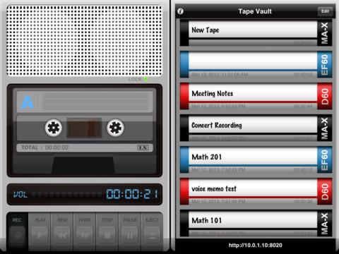 Tapes iPad Screenshot 1