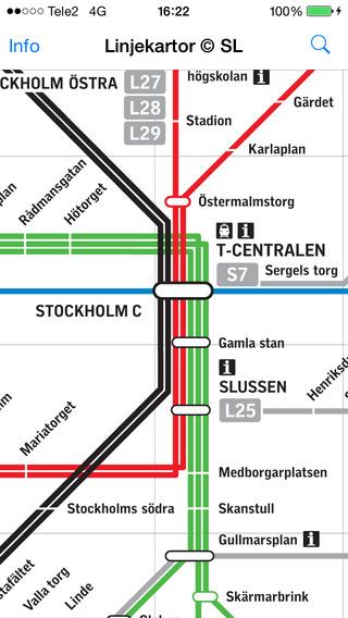 Transit Map Stockholm SL