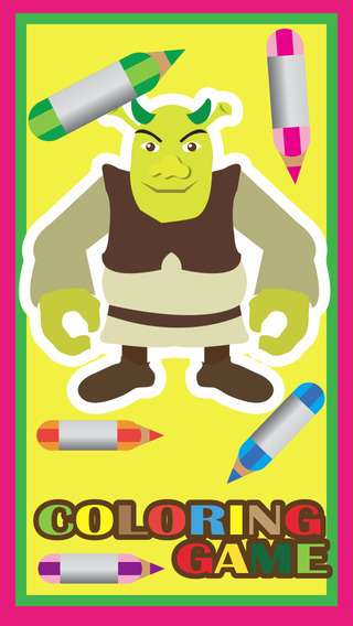Coloring Book for Shrek - Forever After Edition