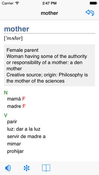 English-French Talking Dictionary iPhone Screenshot 2