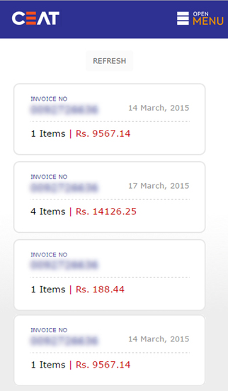 Ceat Invoice Tracker