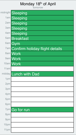 MakeMyDay - Daily Planner and Hourly Schedule Screenshots
