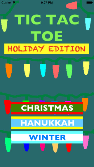 Tic-Tac-Toe Holiday Edition