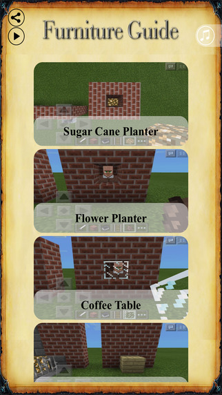 Furniture Guide for Minecraft : Crafty Guide and Secrets for MC