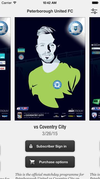 Peterborough United Matchday Programmes