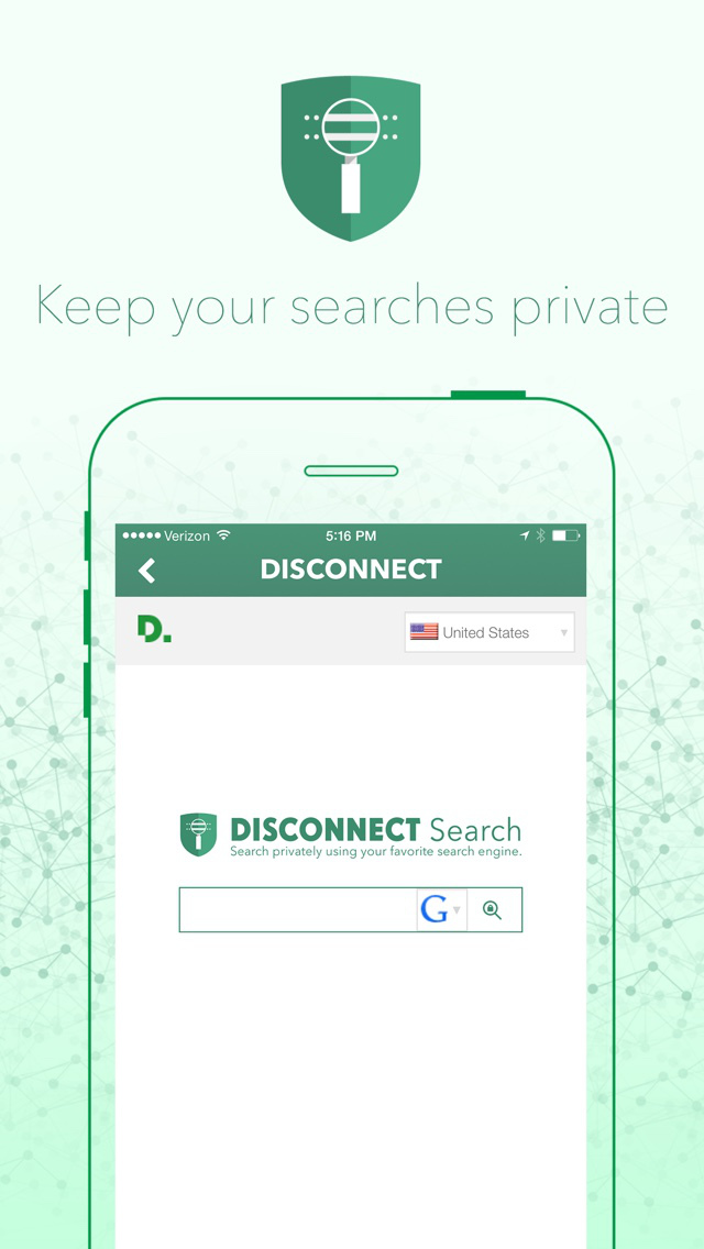Disconnect – privacy and security Screenshot