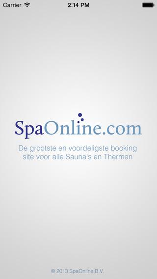 SpaOnline app - Grootste en voordeligste booking app voor alle Sauna's en Thermen