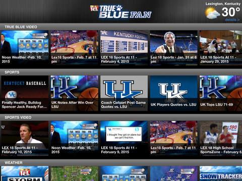 TrueBlueFan iPad Screenshot 2