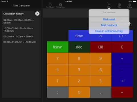 Time.Calc iPad Screenshot 5