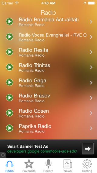 Romania Radio News Music Recorder