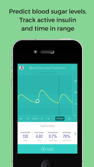 PredictBGL Diabetes Manager and Insulin Doses Calculator Blood Glucose Readings Carbohydrates Sync
