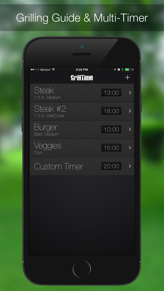 GrillTime - Grill Timer for Steak, Chicken, & BBQ Screenshots