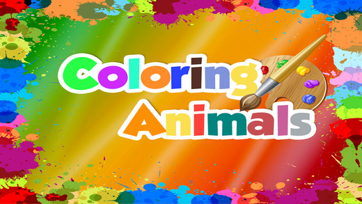 Animals Coloring Book For Kids - Preschool Toddler Make Great Artwork FREE APP