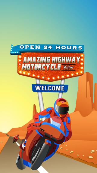 Amazing Highway Motorcycle Ride
