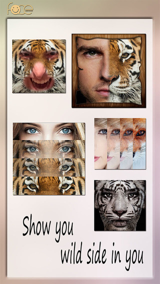 InstaFace:face eyes blend morph with animal effect