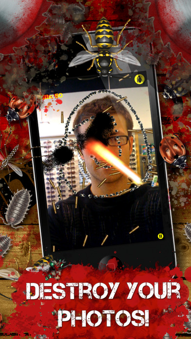 iDestroy Reloaded Free - torture bugs and insects with many weapons and look at the explosions and loads of blood in your pocket iPhone Screenshot 2
